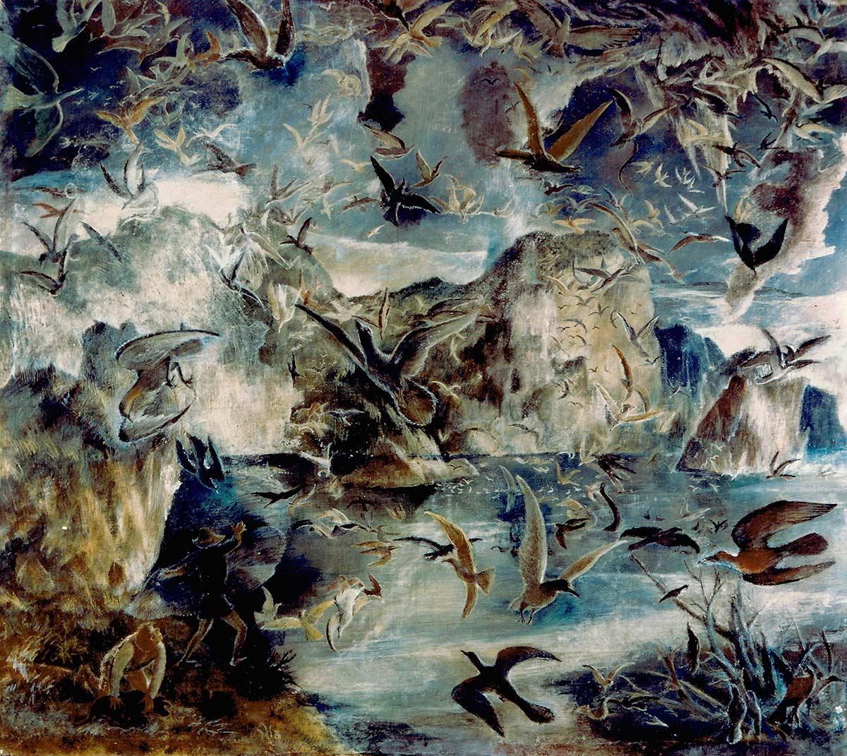 Les oiseaux – 1941 – Panneau 1.15 x 1.30
