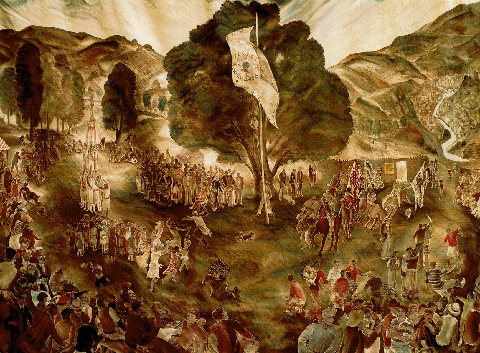 La fête à Aubusson – 1936 – Tapisserie approx. 2.50 x 3.50